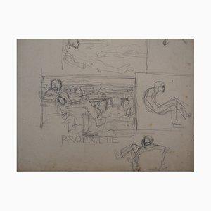 L'homme et la Terre Drawing by Frantisek Kupka, 1904