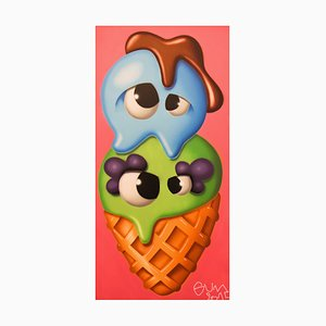Ice cream (Pink) Painting by Gum