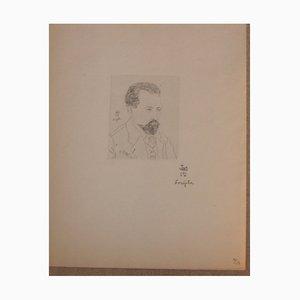 Portrait of Lucien Fabre Engraving by Tsuguharu Foujita