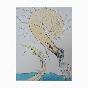 Psychanalyse, Freud avec la Tête d'un Escargot par Salvador Dali