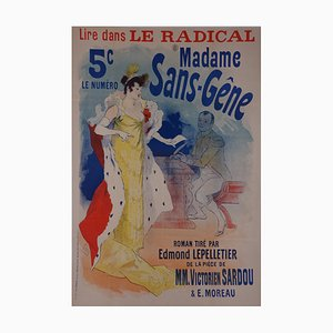 Madame sans gêne (Lady without manners) Poster by Jules Cheret, 1894