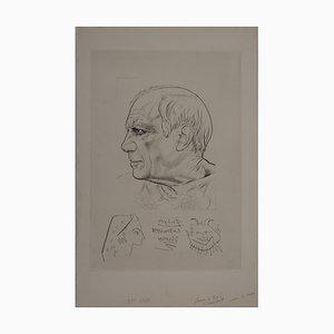 Portrait of the Spanish Woman and Fauna Radierung von Pablo Picasso