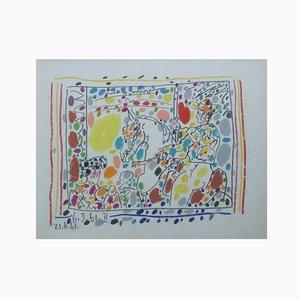 Litografia Los Toros di Pablo Picasso, 1961
