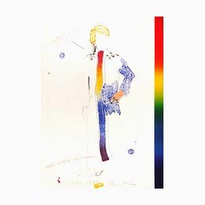 Dorian Gray with Rainbow Scarf Manuscript by Jim Dine