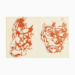 Samuel Beckett Lithograph by Louis Le Brocguy