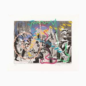 Litografia Serigrafia Silent Six di Art Spiegelman, 2018