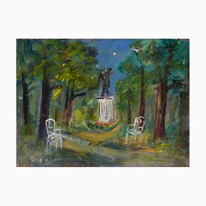 The Van Gogh Square at Auvers sur Oise Oil Painting by Roland Dubuc
