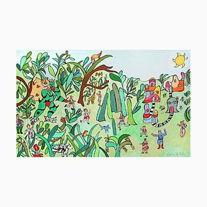 Jungle 2 Lithograph by Niki de Saint Phalle, 1995