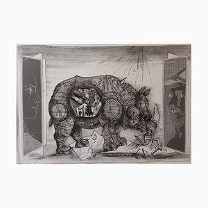 Un Dieu Désordonné Engravings by Pierre-Yves Tremois, Set of 7