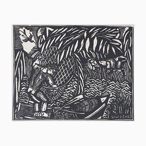 Gravure Fishing par Raoul Dufy