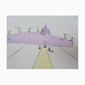 God, Time, Space and the Pope Etching by Salvador Dali