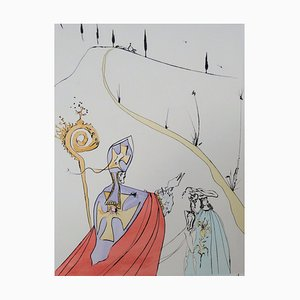 The Sacred Love of Gala Etching by Salvador Dali