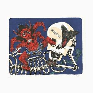 Sur le Squelette d'Ikkyu Lithographie von David Beauchard, 2010er