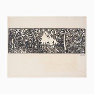 Incisione The Hunt di Raoul Dufy, 1910
