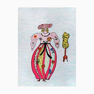 Lithographie The Seamstress par Niki de Saint-Phalle
