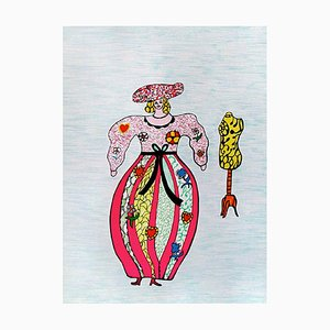The Seamstress Lithograph by Niki de Saint-Phalle