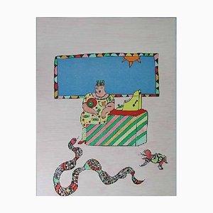 Lithographie The Cashier par Niki De Saint Phalle, 1990s