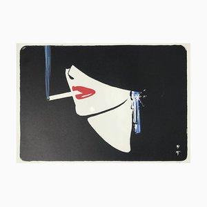 La Cigarette Lithograph by René Gruau