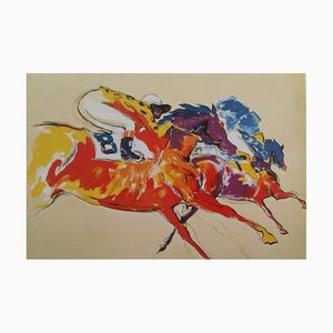 Lithographie Into the Turn par Leroy Neiman