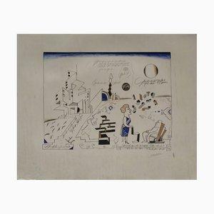 Bauhaus Lithograph by Saul Steinberg, 1966