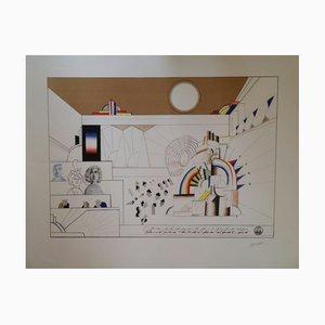 Juke Box Lithograph by Saul Steinberg, 1967