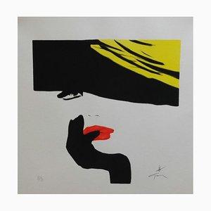 Stampa Woman Hat di René Gruau