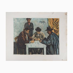Paul CÉZANNE (after): Card players - original etching