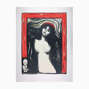 Madonna Lithograph by Edvard Munch, 1895