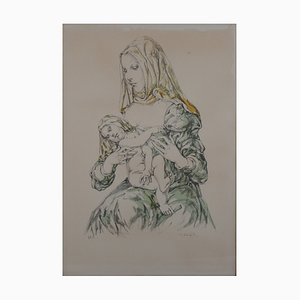Maternity Lithographie von Léonard Foujita