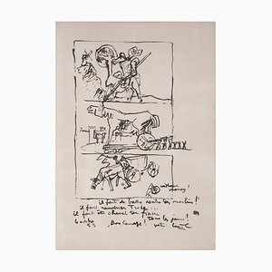 Don Quixote, Trojan Horse and Fiacre Horse Lithograph by Le Corbusier