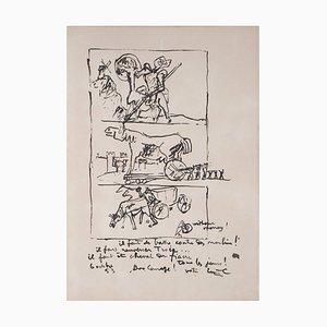 Litografia Don Quixote, Trojan Horse and Fiacre Horse di Le Corbusier