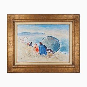 Beau temps à Dieppe Oil Painting by Jean-Jacques René