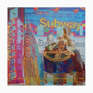 Subway Mixed Media Artwork by Alan Berg