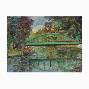 The Green Bridge Ölgemälde von Roland Dubuc
