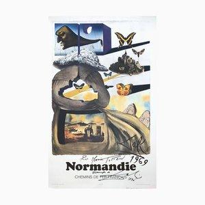 Lithographie Butterfly Suite: Normandy par Salvador Dali