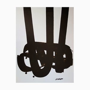Lithograph n ° 29 by Pierre Soulages, 1972