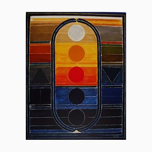 Litografia Five Elements di Sayed Haider Raza, 2008