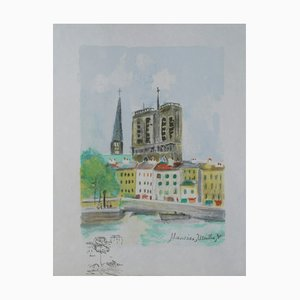 Notre-Dame Lithograph by Maurice Utrillo