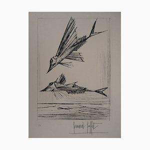 The Fish Engraving by Bernard Buffet, 1959