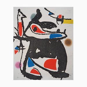The Hammer without a Master II Etching by Joan Miro, 1976