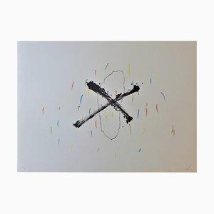 Lithographie Silenci par Antoni Tapies