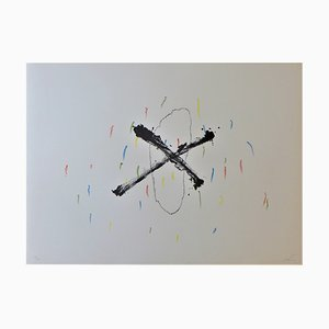 Litografía Silenci de Antoni Tapies