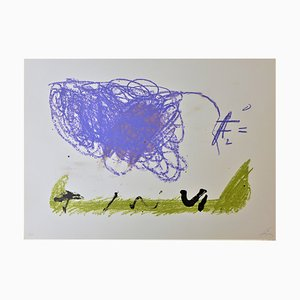 Lithographie Clau 16 par Antoni Tapies