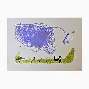 Litografia Clau 16 di Antoni Tapies