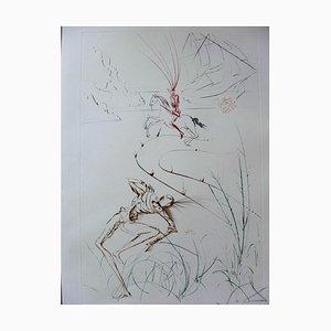 Le Dernier Combat de Tristan Etching by Salvador Dali