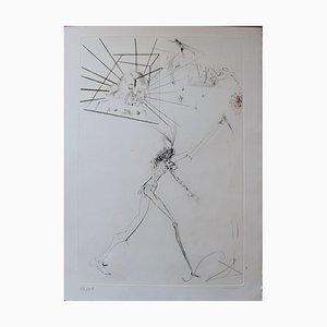 Gravure The Three Felonious Barons par Salvador Dali