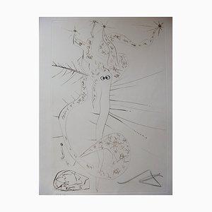 Grabado Tristan enloquecido de Salvador Dali