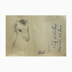 Little Poney Drawing by Marie Laurencin