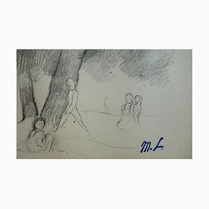 Summer walk Drawing by Marie Laurencin