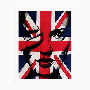 Kate & Union Jack Siebdruck von Louis-Nicolas Darbon